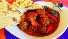 Surinaams eten – Roti Gehaktbal Madras (Sandhia's Roti met gehaktbal in speciale masala saus)