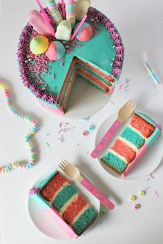 HOW TO DECORATE A COTTON CANDY CAKE   RECIPE