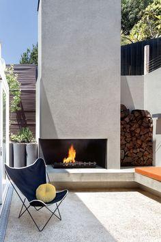 OUTDOOR fireplace http://barefootstyling.wordpress.com/
