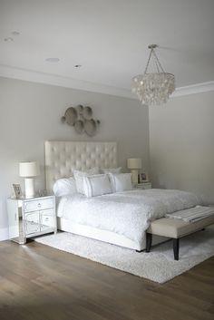 Bedroom lighting. Horchow Aurora 3 Light Cadiz Shell Chandelier in Silvery #bedroom #lighting #bedroomlighting bedroom-lighting Eye for the Pretty