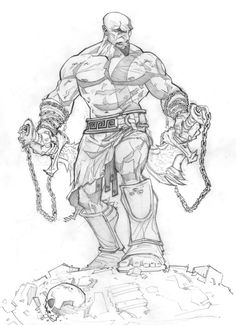 God of War: Ascension sketch by *PatrickBrown on deviantART