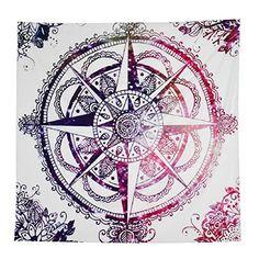 Transer ® Belle serviette de plage Hippie Tribal Compass Tapisserie Tenture Dortoirs Tapisseries de plage Voyage Accessoires (145*145cm)                                                                                                                                                                                 Plus