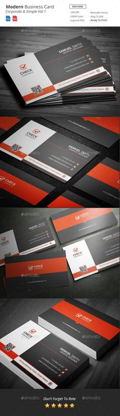 Modern - Corporate Business Card Vol 1 - Corporate Business Cards Download here : http://graphicriver.net/item/modern-corporate-business-card-vol-1/12836078?s_rank=1702&ref=Al-fatih
