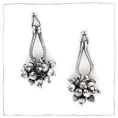 silver jewelry earrings by Lisa Colby