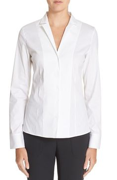 Akris Cotton Poplin Blouse available at #Nordstrom