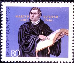 Luther stamp from Germany, 500th anniversary of Luther's birth.