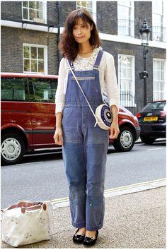 #LFW day 4: Everyone's wearing denim dungarees