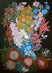 Peinture sous verre. Annie Saltel