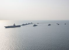 https://flic.kr/p/MKu4zS | 161014-N-NF288-518 | WATERS SURROUNDING THE KOREAN PENINSULA (Oct. 14, 2016) The Navy's only forward-deployed aircraft carrier, USS Ronald Reagan (CVN 76), steams in formation with ships from Carrier Strike Group Five (CSG 5) and Republic of Korea Navy (ROKN) during Exercise Invincible Spirit. Invincible Spirit is a bilateral exercise conducted with the ROKN in the waters near the Korean Peninsula, consisting of routine operations in support of maritime…