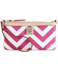 Dooney & Bourke Chevron Large Slim Wristlet - Handbags & Accessories - Macy's