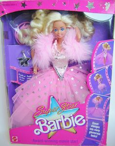 This was the first fancy barbie I ever got, from my Grandparents. I want her complete in box again as an adult. | Superstar Barbie 1988
