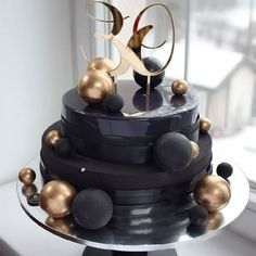 Uploaded by Find images and videos about dessert on We Heart It - the app to get lost in what you love. 25th Birthday Cakes, Elegant Birthday Cakes, Birthday Ideas, Cake Cookies, Cupcake Cakes, Cupcakes, Cake Design For Men, Circle Cake, Crazy Cakes