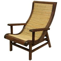 Curved Japanese Bamboo Sun Chair w/ Wood Frame (535 AUD) ❤ liked on Polyvore featuring home, outdoors, patio furniture, outdoor chairs, furniture, chairs, deco, decor, wooden outdoor furniture and wood patio chairs