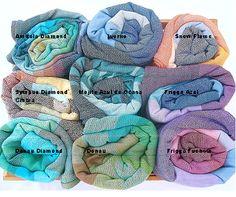 Girasol Colorways Custom ringsling pieces sewn to order.   #wrapconversion #babywearing #ringsling