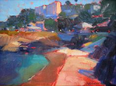 "La Jolla Cove Morning by Catherine Grawin Oil ~ 34"" x 40"""