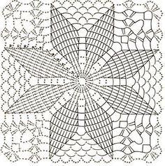 Home Decor Crochet Patterns Part 172 - Beautiful Crochet Patterns and Knitting Patterns Crochet Tablecloth Pattern, Crochet Bedspread, Crochet Doily Patterns, Granny Square Crochet Pattern, Crochet Pillow, Crochet Squares, Knitting Patterns, Free Knitting, Filet Crochet
