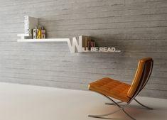 Полки с надписью «Уже прочитано» и «Буду читать.» Проект Mebrure Oral.