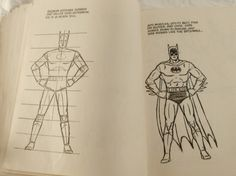"Vintage 1983 ""How To Draw Super Heroes"" (Golden Book 2154) DC Comics Edition"