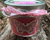 4 oz handmade soy blend candle.  Scent pictured is Sex on the Beach #handmade #candles #scents #jellyjars #gifts