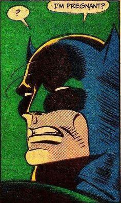 Batman is pregnant, comics, comic books, DC Comics Marvel Comics, Robin Comics, Arte Dc Comics, Marvel Logo, Bd Comics, Funny Comics, Marvel Dc, Pop Art Comics, Joker Comic