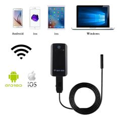 7mm Wifi Endoscope for Android/IOS/Windows Waterproof Endoscope Camera with Wifi Box Touch Switch