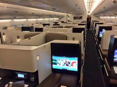 Etihad's brand new Airbus A-380-800 - Business Class Cabin. Dec 2014.