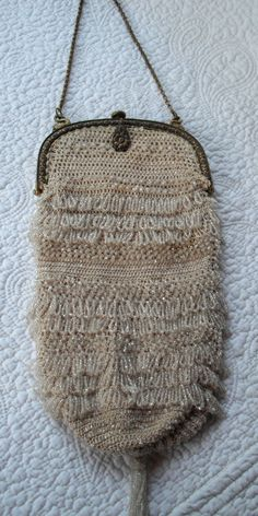 Evening Beaded Bag 1920's with Swan holders for the chain Vintage Rare  http://www.etsy.com/shop/kellimay?ref=seller_info