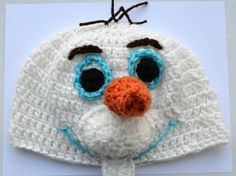 Disney Frozen Olaf Hat / Handmade Crochet / Child and Adult Sizes / Snowman Hat #Handmade #crochet #spearcraft #ebay #Disney #disneyfrozen #olaf #olafhat #snowmanhat