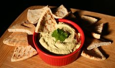 Cilantro and Ginger Hummus