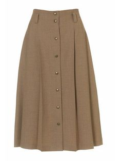 high waisted buttoned skirt - intermediate