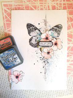 Binka vous invite dans la suite de son Art Journal. Découvrez dans ce tuto à créer une page d'Art Journal avec les encres Distress Oxide !