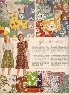 The 1942 Dress: Gestation Fashion Moda, 1940s Fashion, Vintage Fashion, Club Fashion, Vintage Beauty, Vintage Textiles, Vintage Quilts, Vintage Patterns, Vintage Knitting