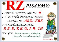 "Asia tu i tam: Zasada ortograficzna z ,,rz"" po spółgłoskach Aa School, Back To School, Polish To English, Learn Polish, Poland History, Polish Language, English Games, Teaching English, Learning Activities"