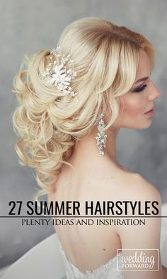 27 Stunning Summer Wedding Hairstyles ❤ Our gallery has plenty ideas and inspiration from romantic, loose curls to gorgeous formal summer wedding hairstyles. See more: http://www.weddingforward.com/summer-wedding-hairstyles/ #weddings #hairstyles #updos Photo: El Stile Spb
