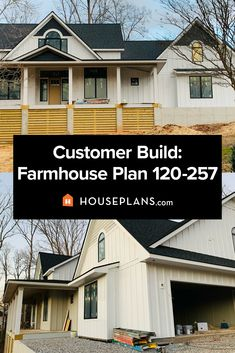 Love the farmhouse look? Then you'll LOVE these progress photos of a customer build! Modern farmhouse plan 120-257 (click the link for more details). Questions? Call 1-800-913-2350 today. #blog #architecture #modern #bungalow #architect #architecture #buildingdesign #country #craftsman #houseplan #homeplan #house #home #homeblog Modern Farmhouse Plans, Farmhouse Design, Farmhouse Style, Farmhouse Decor, Modern Bungalow, Cozy Living Rooms, Building Design, Craftsman, Architecture Design