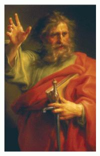 Free Holy Card  St. Paul Prayer Card  Offered by: Our Sunday Visitor