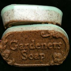 Gardeners soap with walnut shells and pumice scented with wake up rosemary $5.50