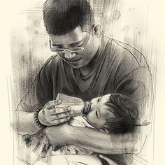 #baby #life #family #cute #chubby #newborn #babyart #happiness #milkfeeding #father