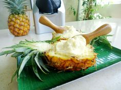 #pineapple #icecream #yonanas #fresh #nosugar http://encouragingtreats.com/pineapple-ice-cream/
