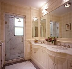 John B. Murray Architect: Apartments ... vanity with curved sink bump outs