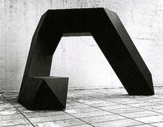 Tony Smith - Cigarette, 1961, Fabricated 1971