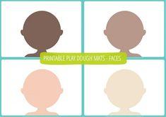 People Play Dough Mats - Free Printable !