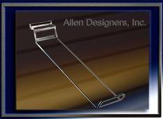 Slatwall Acrylic Accessories - Acrylic Front-Slant Shoe Display