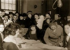 Historic Vote: Women in New York City participate in their first election in 1922
