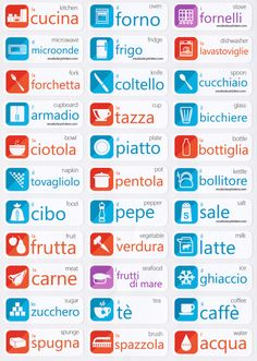 Italian Language Learning Stickers UN'IDEA GENIALE!