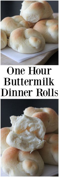 One Hour Buttermilk Dinner Rolls! Simple and these come out great every time! #onehour #dinner #rolls #bread #homemade