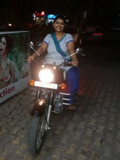 indian lady riding bike 240 - India Girls On Bike - Indian Girls On Bike