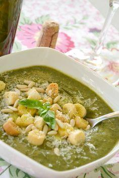 crema di bietole e ceci al basilico e pinoli (chard and chickpeas soup with basil and pinenuts - recipe in italian)