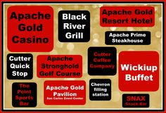 HE says: 'There's nothing to do around town' and   SHE says, 'I'm bored'...   and then the smartest, coolest person in the room (that would be YOU) says, 'There's so much to see and do at Apache Gold Casino & Resort!'.