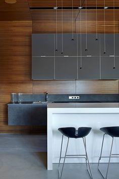 33 Masculine Kitchen Furniture Ideas That Catch An Eye - DigsDigs Modern Apartment Design, Modern Kitchen Design, Interior Desing, Interior Design Kitchen, Kitchen Dinning, Kitchen Decor, Kitchen Island, Nice Kitchen, Beautiful Kitchen